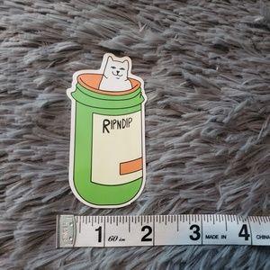 Ripndip sticker Lord Nermal pill bottle